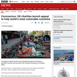 Coronavirus: UK charities launch appeal to help world's most vulnerable countries