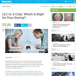 LLC vs. S Corp: Which Is Right for Your Startup?