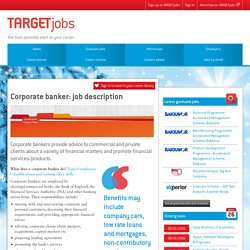 Corporate banker: job description