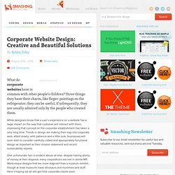 Corporate Website Design: Creative and Beautiful Solutions - Smashing Magazine
