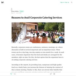 Catering Services for Ongoing Corporate Events