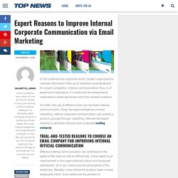 Expert Reasons to Improve Internal Corporate Communication via Email Marketing