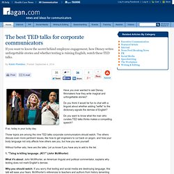 The best TED talks for corporate communicators