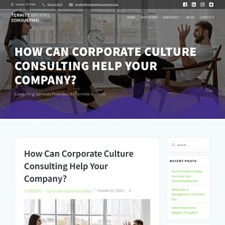 How Can Corporate Culture Consulting Help Your Company?