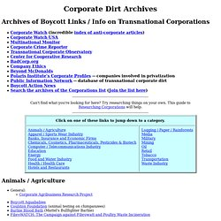 Corporate Dirt Archives