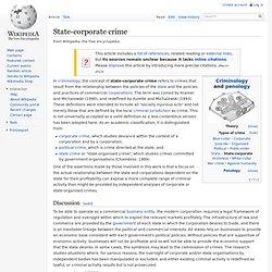 State-corporate crime