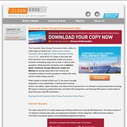 Corporate Clean Energy Procurement Index