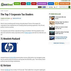 The Top 7 Corporate Tax Evaders