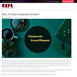 How To Plan Corporate Events? - Countrywide