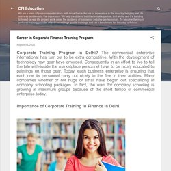 Career in Corporate Finance Training Program