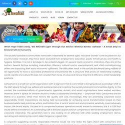 CSR project implimentation NGO