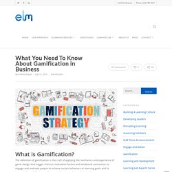 Corporate Gamification of Learning & Training