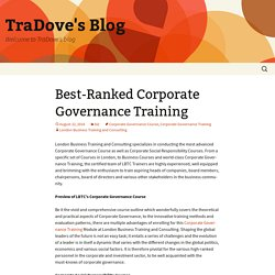 Best-Ranked Corporate Governance Training