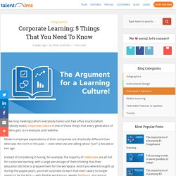 5 Facts About Corporate Learning You Need To Know [Inforgraphic]