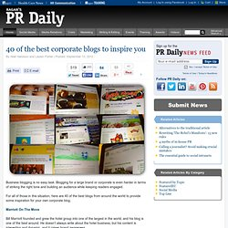 40 of the best corporate blogs to inspire you