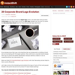 20 Corporate Brand Logo Evolution | Showcases