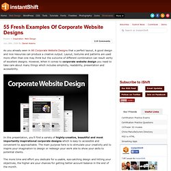 55 Fresh Examples Of Corporate Website Designs