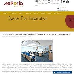 Corporate interior design in Delhi