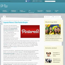 Corporate Pinterest: 11 Best Practice Beispiele