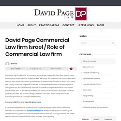Pro-active Corporate Lawyers in Israel - David Page Law