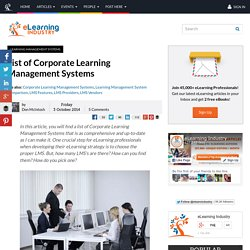 List of Corporate Learning Management Systems