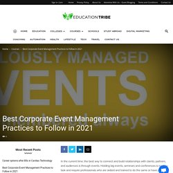 Best Corporate Event Management Practices to Follow in 2021