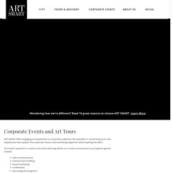 Corporate Events and Art Tours - Multilingual Tours Available - Art Smart