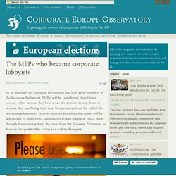 The MEPs who became corporate lobbyists