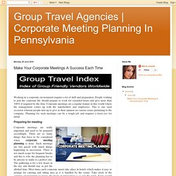Corporate Meeting Planning In Pennsylvania