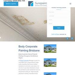 Body Corporate Painting Service Brisbane