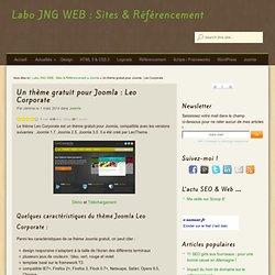 Un thème gratuit pour Joomla : Leo Corporate