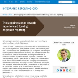 The stepping stones towards more forward looking corporate reporting