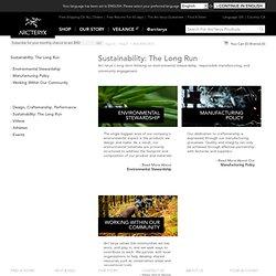 Arc'teryx Corporate and Social Responsibility / Arc'teryx
