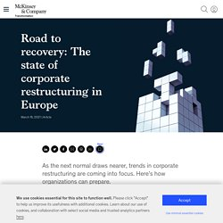 The state of corporate restructuring in Europe