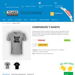 Corporate uniforms in south India - TEAMSPORTSWEARS