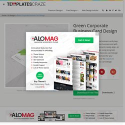 Green Corporate Business Card Design - TemplatesCraze.com