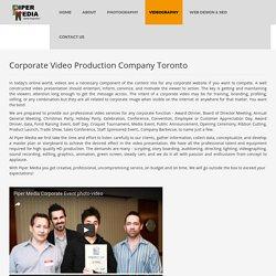 Video Production Toronto - Piper Media