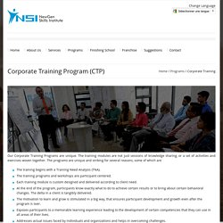 Corporate Training Program (CTP)