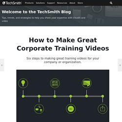 How to Make Great Corporate Training Videos