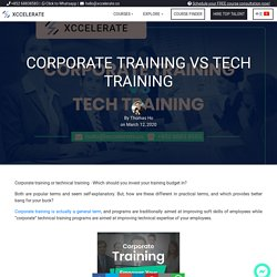 Corporate Training vs Tech Training