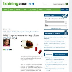 Why corporate mentoring often doesn't work