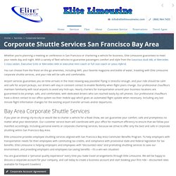 Employee Shuttle Services San Francisco