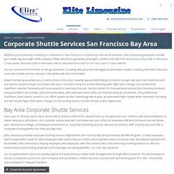 Employee Shuttle Services San Francisco