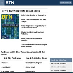 BTN's 2020 Corporate Travel Index: Hotel, Car Rental Rates and Meal Prices