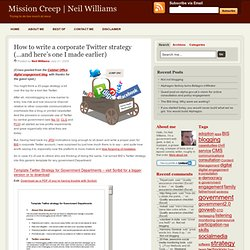 How to write a corporate Twitter strategy (…and here's one I made earlier)