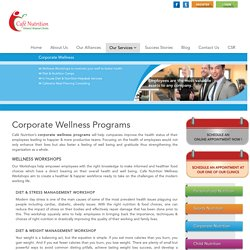 Corporate Wellness Programs, Corporate Nutrition in Mumbai