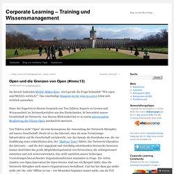 Open und die Grenzen von Open (#mmc13)