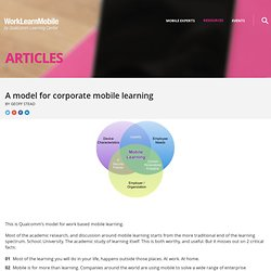 A model for corporate mobile learning - Articles - WorkLearnMobile