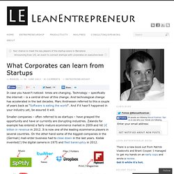 What Corporates can learn from Startups