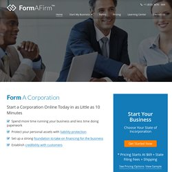 Form A Corporation in Delaware